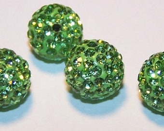 light green 10mm making beads