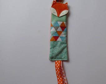 Pacifier clip with fabric choice