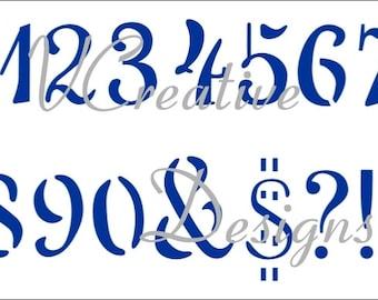 Penscript Numbers stencil