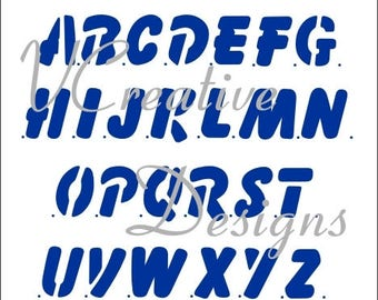 Rotund Upper Case alphabet stencil