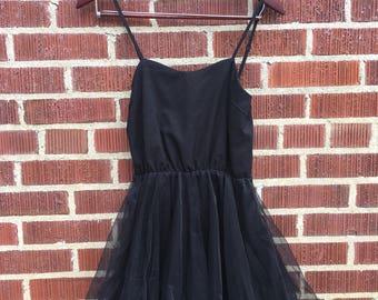 Black tutu style Sindel dress