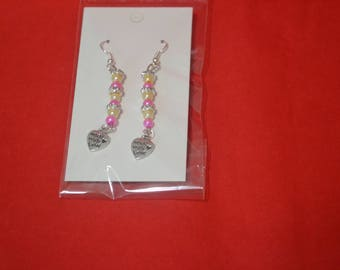 Pink Made With Love Earrings