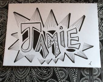 Jamie - Freehand drawing