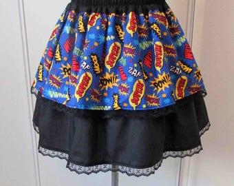 Onomatopoeia comic geek skirt