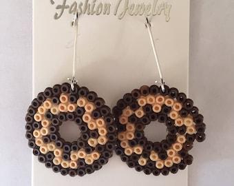 Chocolate Doughnut Earrings