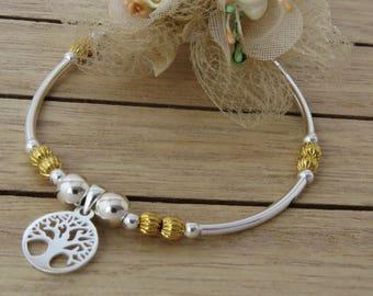 Tree of life bracelet, Sterling Silver Bracelet, Family Tree Bracelet,  Silver Tree Gift, Friendship Bracelet, Tree Bracelet for Mother Gift