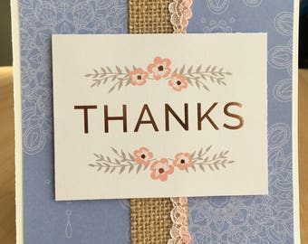 Rose Gold Thank-You Card
