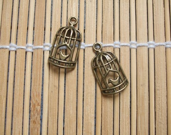 2 charm bird cages