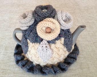 Hand-knit Tea Cosy