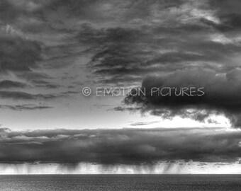 Rain Clouds over Bass Strait