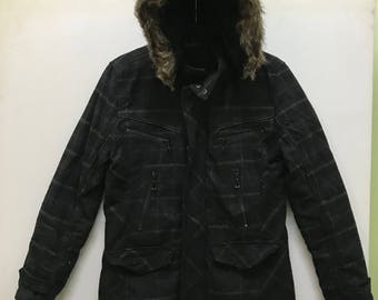 Rare!!! Vintage!!! In The Attic Jacket Hooded Full Zipper and Buttons