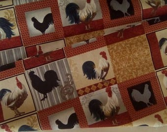 Fabric for patchwork and stitching, chicken print