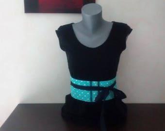 Turquoise blue OBI style belt.