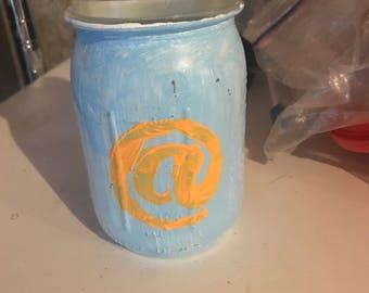 Handmade painted jars for many alternative uses
