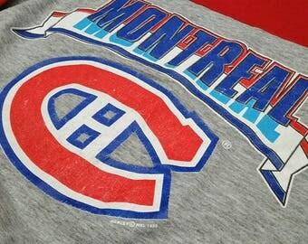Vintage 1989 Montreal Canadiens Crewneck Sweatshirt / Vintage Habs