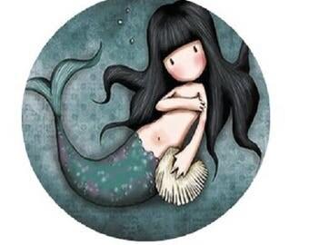 """""""Lady Mermaid"""" cabochon 25mm"""
