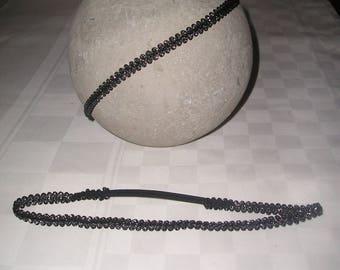 Black waves headband