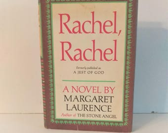 Rachel, Rachel by Margaret Laurence, Hardcover with Dust Jacket, 1966, Book Club Edition