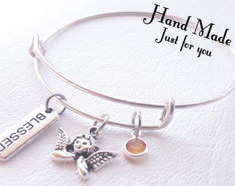 Blessed Bracelet, Guardian Angel Bracelet, Bangle, Bracelet, Angel jewelry, Angel bracelet