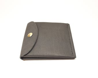 "Leather slim wallet ""Office"""