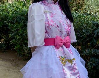 龙花园 Longhuadong Dragon garden Pink Deluxe Chinese style Dress