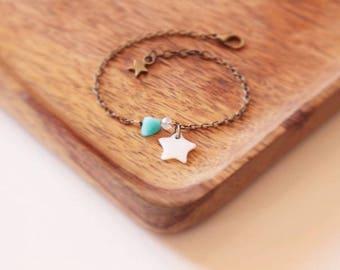 "Bracelet ""Copacabana"" mother of Pearl and amazonite"