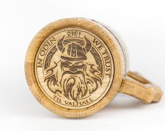 viking beer mug wood viking stain oak beer mug wooden tankard oak handcrafted beer mug wooden beer mug personalized wood mug oak gift