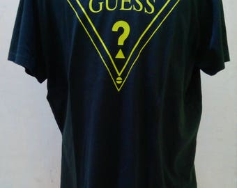 90s GUESS JEANS Triangle Logo Short Sleeve T-Shirt