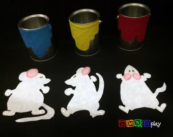 Mouse Paint story retell - felt - early childhood - speech therapy - preschool