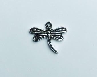 Silver Dragonfly charm * 15 mm x 17 mm