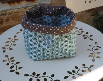 Pockets fabric storage basket