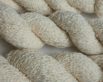 Lamb's Wool Blend Yarn - Ivory - Fine Weight