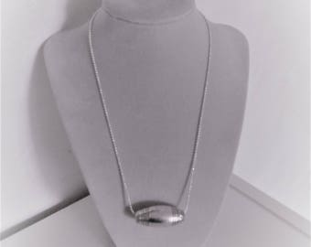Necklace pendant silver rice grain