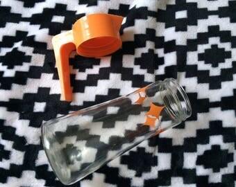 Retro Anchor Hocking Juice Pitcher- Tang- Orange