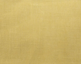 Linen yellow mustard sold was cut from 25 cm