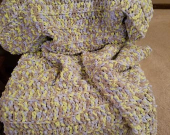 Soft Variegated Crocheted Baby, Toddler, Child Blanket