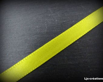 """lemon"" 6mm satin ribbon 25 m"