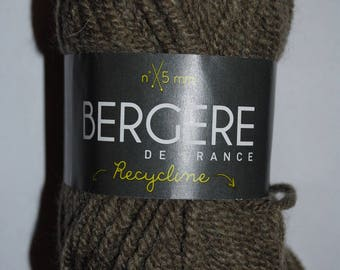 Pack of 10 balls of yarn Recycline khaki Bergère De France discount