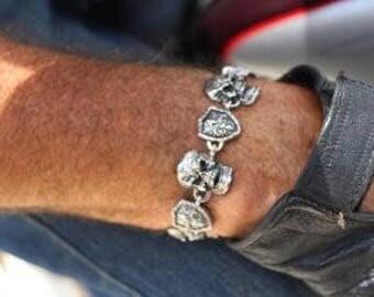 Skull Shield Stainless Steel Gents Bracelet