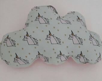 Cushion cloud patterns unicorns