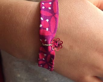 Bracelet liberty girl hot pink