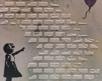 Banksy inspired Hope card
