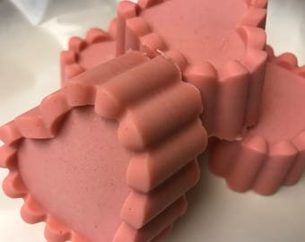 Heart Shaped Rose Geranium Soap with Double Butter Handmade by SterlingSoapCo