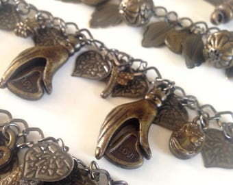Bronze charm bracelets