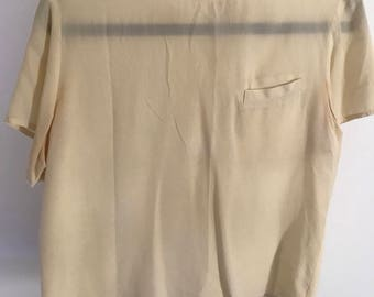 Vintage Silk Blouse with Pocket