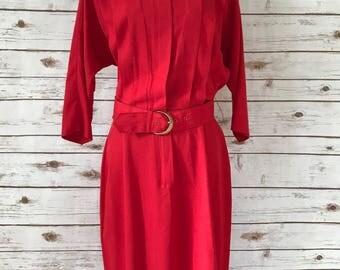 Vintage 1980s Red Dress