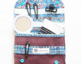 Pocket barrettes and elastics girl/woman