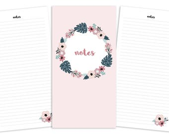Standard Notes Pages Printable Insert - TN - Spring Blooms