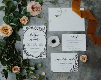 Modern Wedding Invitation Set | Simple Wedding Invitation Set