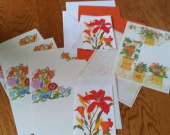 Vintage Stationery Collection ~ Orange Tiger Lillies Collection